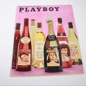 PLAYBOY Other - Vintage Playboy Magazine October 1958 Retro Art